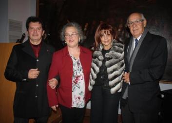 Ο Κώστας Ευαγγελάτος,η Βουλευτής Αφροδίτη Θεοπεφτάτου, η Ελένη και ο Γιάννης Μελέτης_